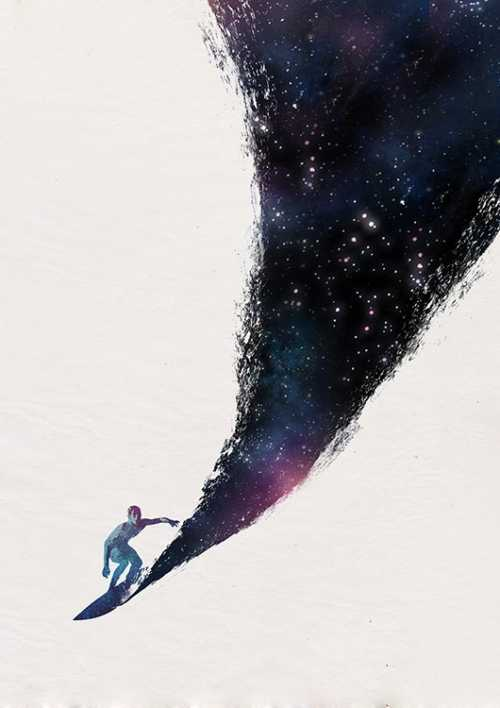 Surfing in the Universe
